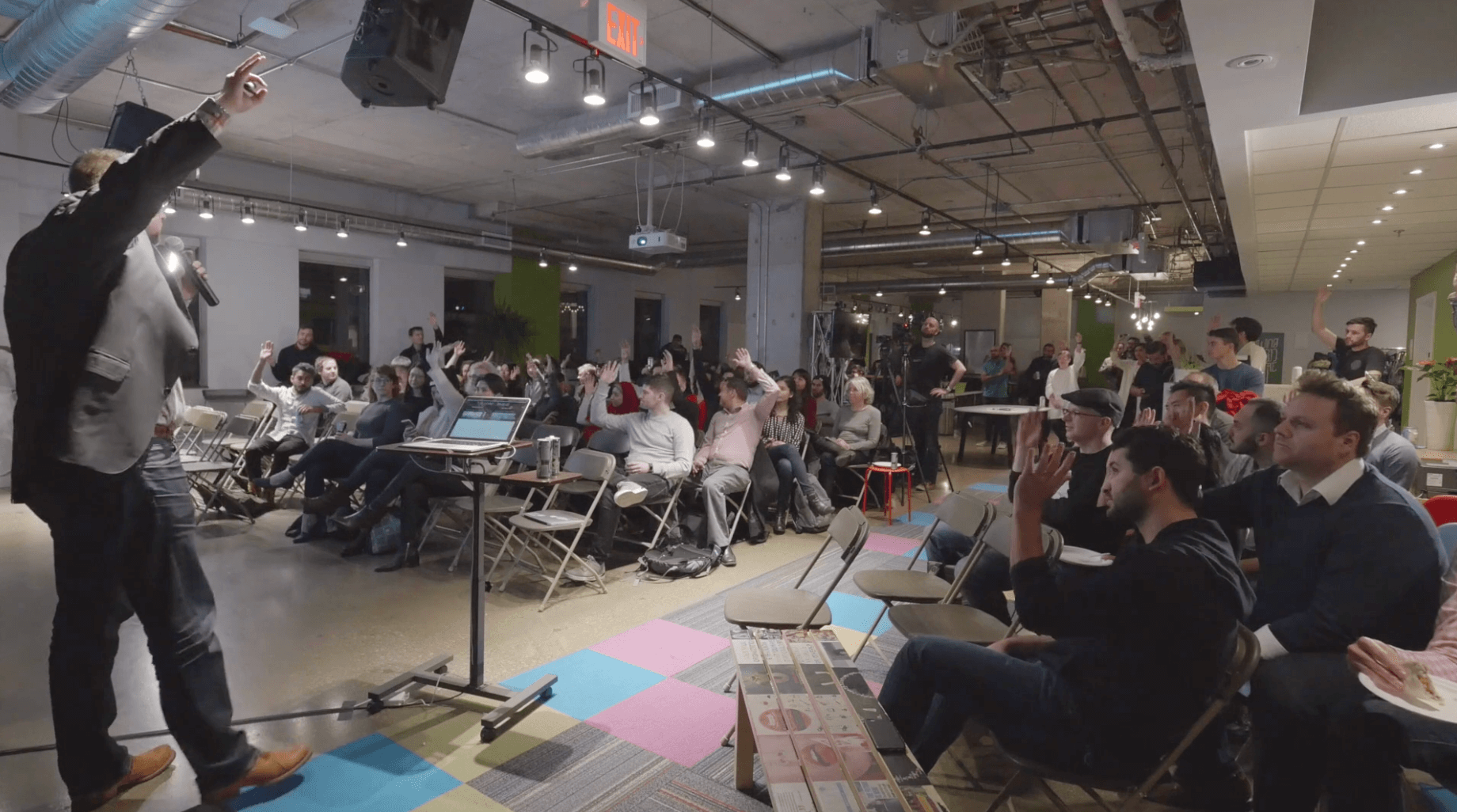Johnathan Nightingale speaks at a Toronto ProductTank